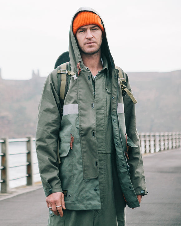 Nigel Cabourn × ELEMENT - SAWYER COVERALL - OLIVE