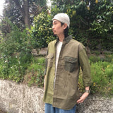 Nigel Cabourn - 40s ARMY MIX SHIRT - MIX FABRIC