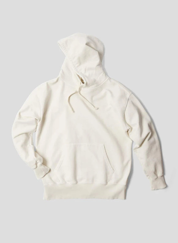 Nigel Cabourn THE ARMY GYM - EMBROIDED ARROW HOODIE - IN NATURAL