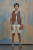 Nigel Cabourn - LYBRO PLEATED SHORT PANTS - HERRINGBONE
