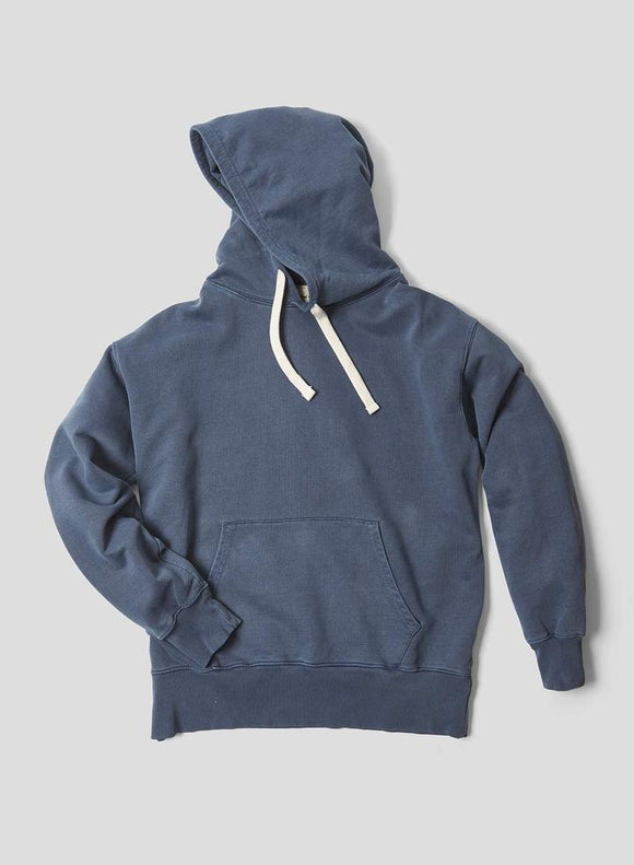 Nigel Cabourn THE ARMY GYM - EMBROIDED ARROW HOODIE - IN BLACK NAVY