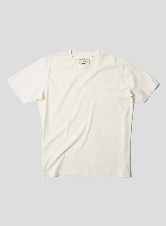 Nigel Cabourn THE ARMY GYM - EMBROIDED ARROW TEE - IN NATURAL