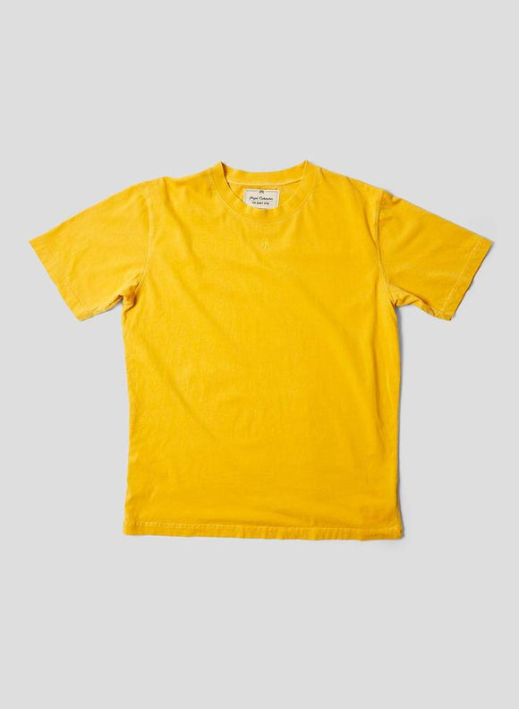 Nigel Cabourn THE ARMY GYM - EMBROIDED ARROW TEE - IN RACING GOLD