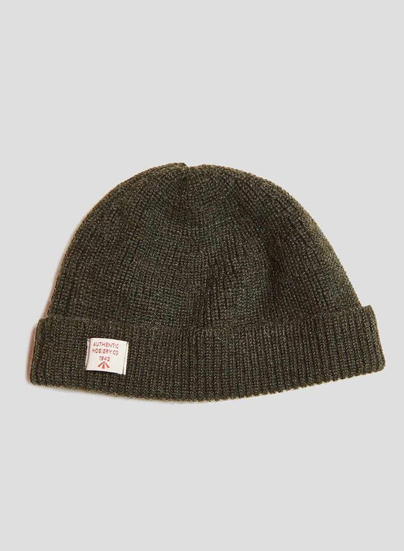 Nigel Cabourn - AUTHENTIC SOLID BEANIE - DARK ARMY