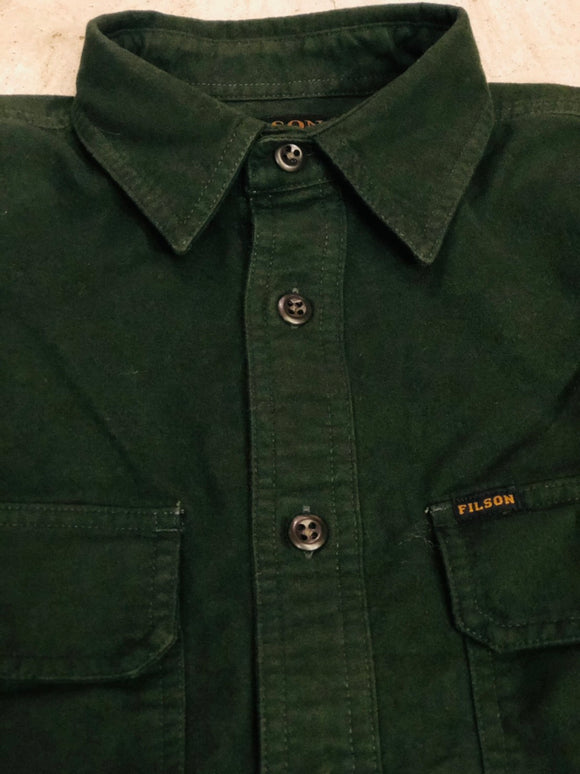 FILSON - FIELD FLANNEL SHIRT - Dark Moss