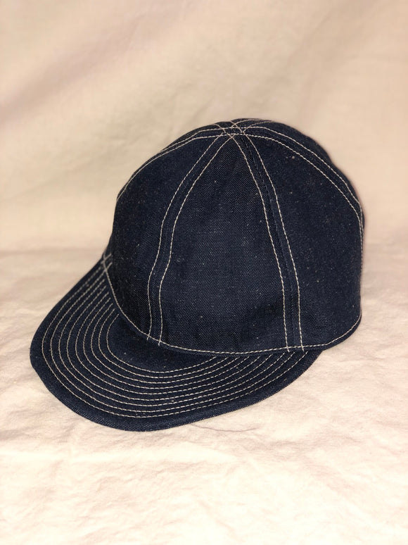 Nigel Cabourn - LYBRO MECHANICS CAP - JAPANESE DENIM - INDIGO