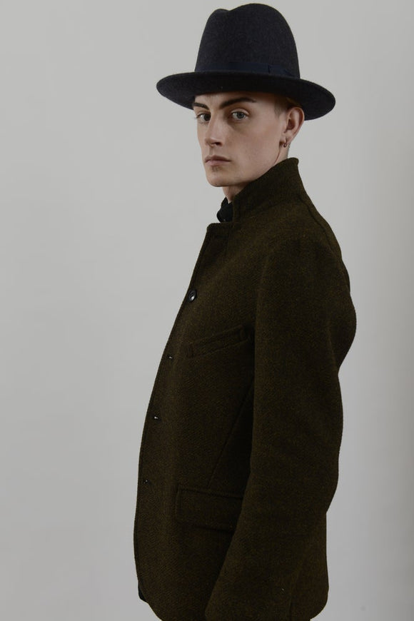 HACKNEY UNION WORKHOUSE - BRIXTON HAT - CHARCOAL WOOL