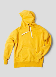 Nigel Cabourn THE ARMY GYM - EMBROIDED ARROW HOODIE - IN RACING GOLD