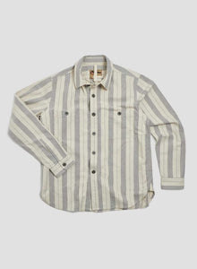 Nigel Cabourn - LYBRO ARCTIC SHIRT COTTON STRIPE - NATURAL/NAVY