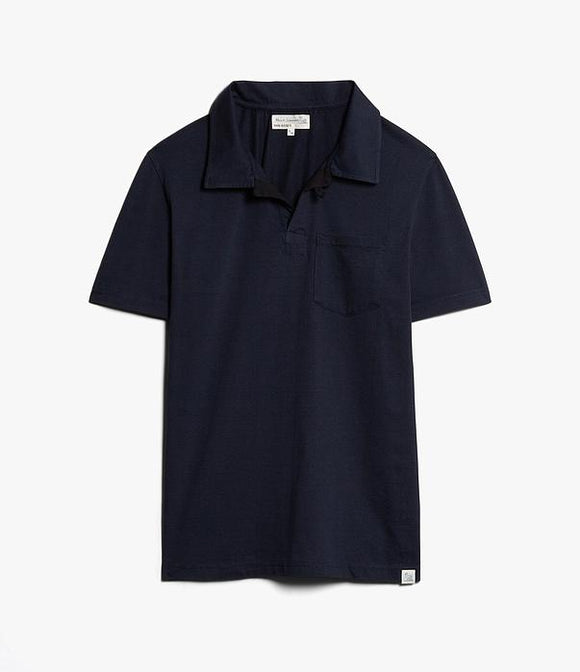 Merz b.Schwanen - PLP COTTON POLO SHIRT WITH POCKET - INK BLUE