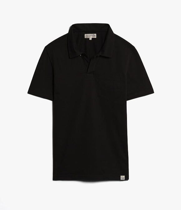 Merz b.Schwanen - PLP01 - POLO SHIRT WITH POCKET DEEP BLACK