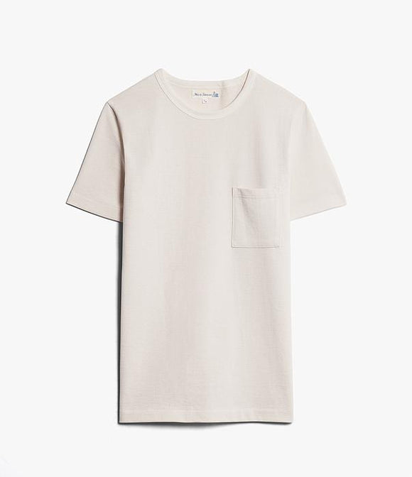 Merz b.Schwanen - 215P - POCKET TEE NATURAL
