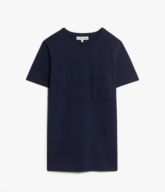 Merz b.Schwanen - 215P - POCKET TEE INK BLUE