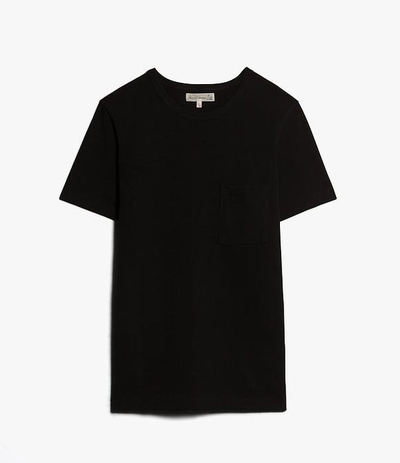 Merz b.Schwanen - 215P - POCKET TEE DEEP BLACK