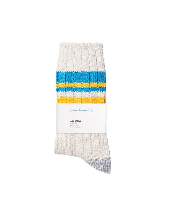 Merz b.Schwanen - GS02 GOOD BASICS SOCKS - NATURE/SKY