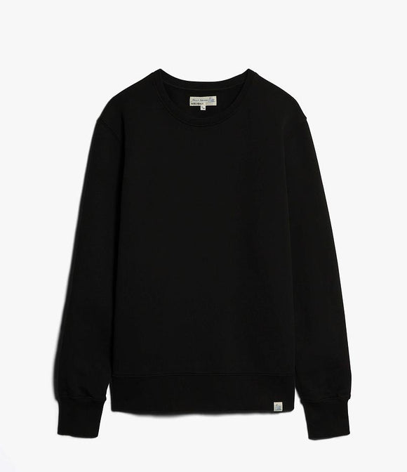 Merz b.Schwanen - CSW01 CREW NECK SWEAT SHIRT - DEEP BLACK