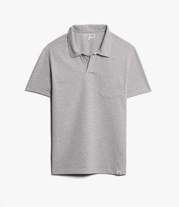 Merz b.Schwanen - PLP COTTON POLO SHIRT WITH POCKET - GREY