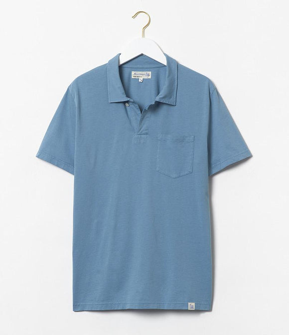 Merz b.Schwanen - PLP COTTON POLO SHIRT WITH POCKET - AQUA