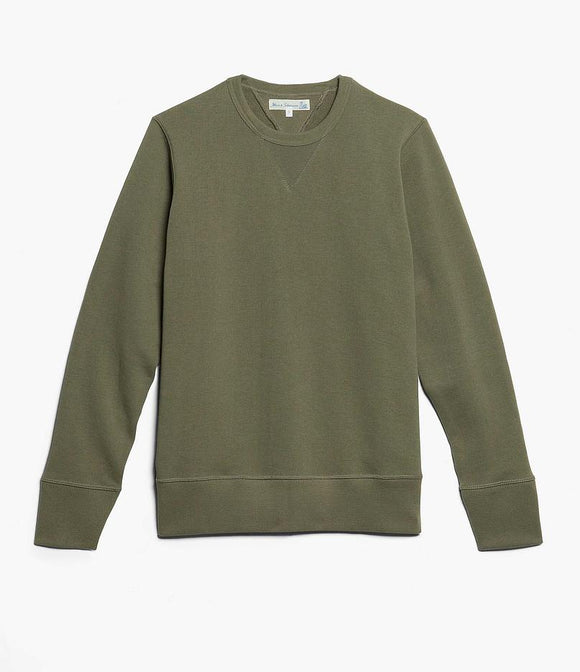 Merz b.Schwanen - 346 CREW NECK SWEAT SHIRT - ARMY