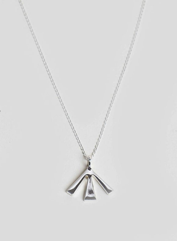 Nigel Cabourn x Johnny Hoxton Jewellery - BROAD ARROW NECKLACE - 925 STERLING SILVER