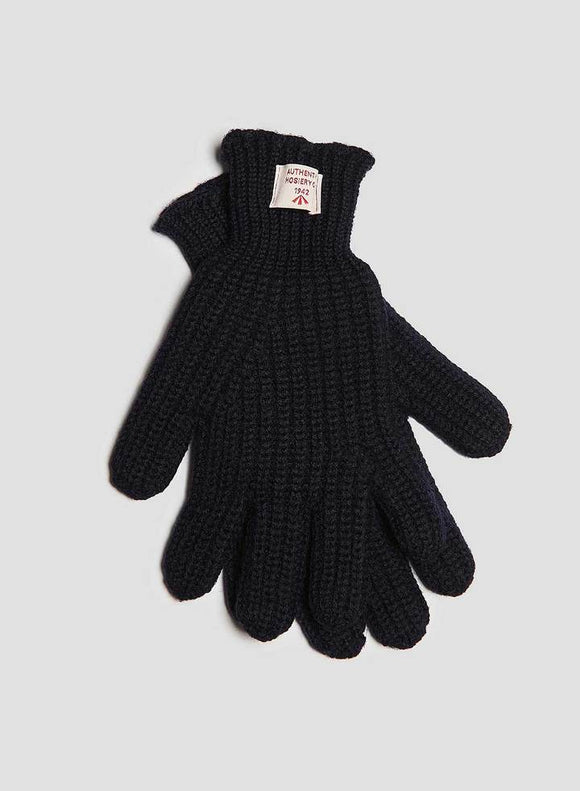 Nigel Cabourn - RIBBED GOALIE GLOVES - DARK NAVY