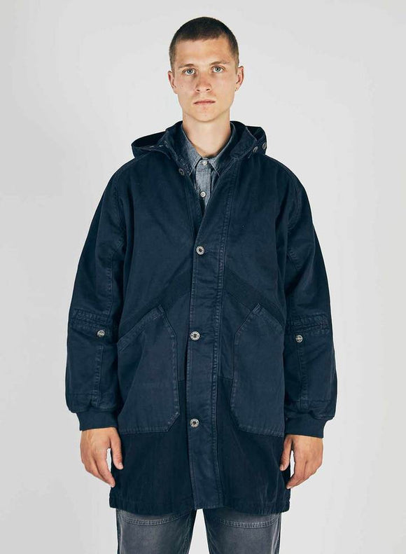 Nigel Cabourn LYBRO - HOODED ARCTIC COAT - ROYAL NAVY