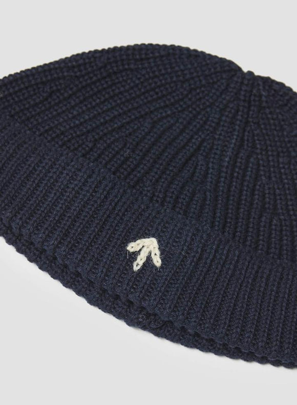 Nigel Cabourn - COTTON KNIT BEANIE IN RICH NAVY - AUTHENTIC