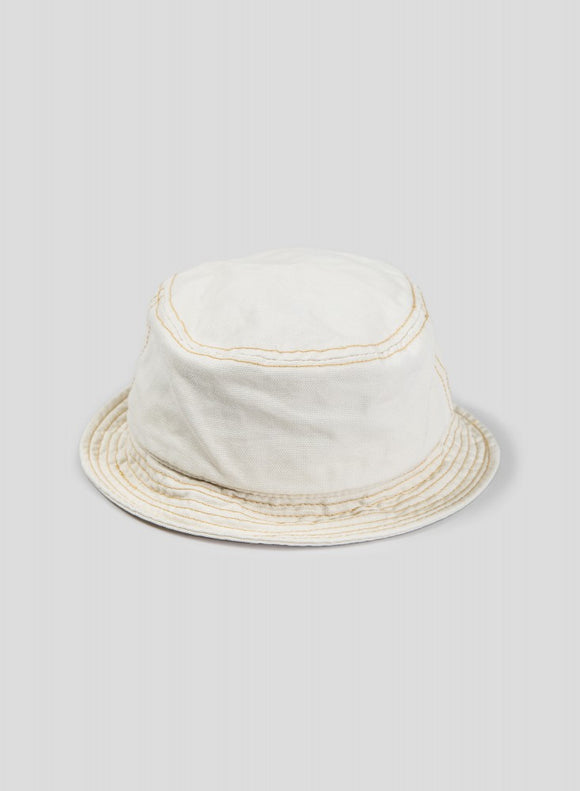 Nigel Cabourn - LYBRO BUCKET HAT OFF WHITE - CANVAS