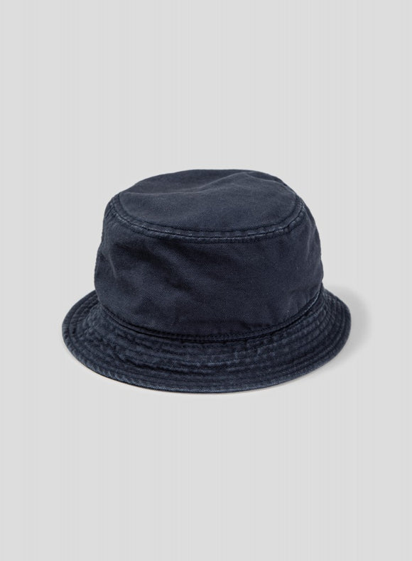 Nigel Cabourn - LYBRO BUCKET HAT  DARK NAVY - CANVAS