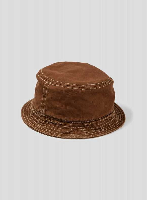 Nigel Cabourn - LYBRO BUCKET HAT BROWN - CANVAS