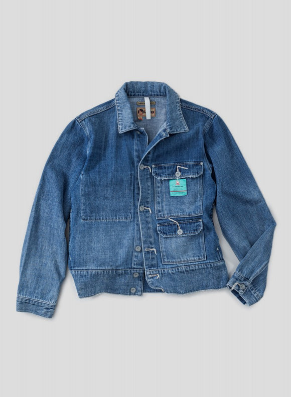 Nigel Cabourn - LYBRO DENIM HIP JACKET - WASHED