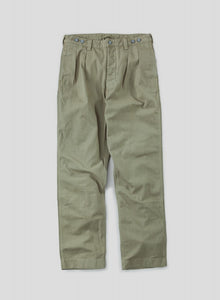 Nigel Cabourn - LYBRO PLEATED CHINO PANT - HERRINGBONE