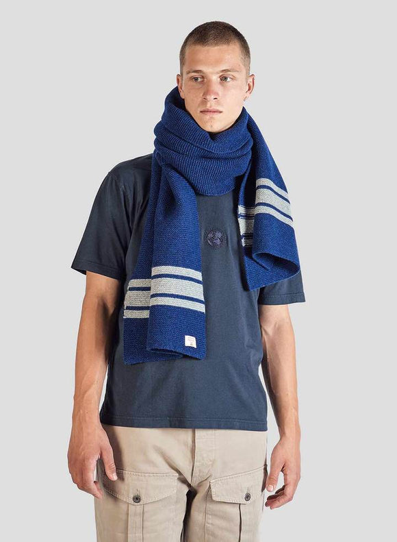 Nigel Cabourn - LAMBS WOOL SCARF - BRIGHT BLUE