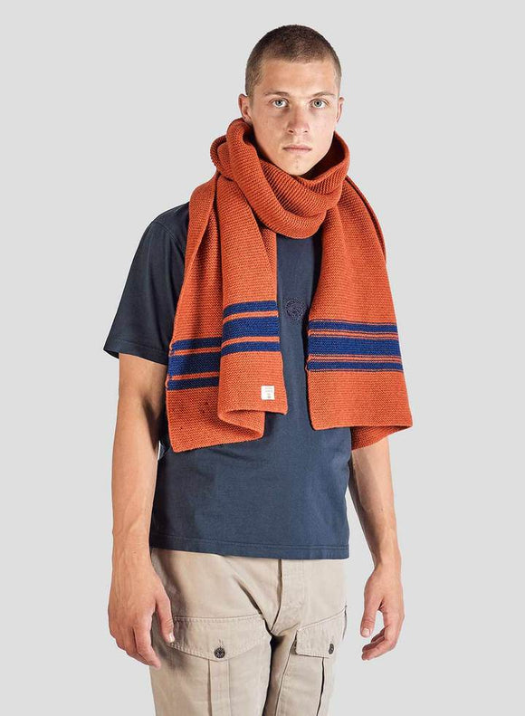 Nigel Cabourn - LAMBS WOOL SCARF - ORANGE
