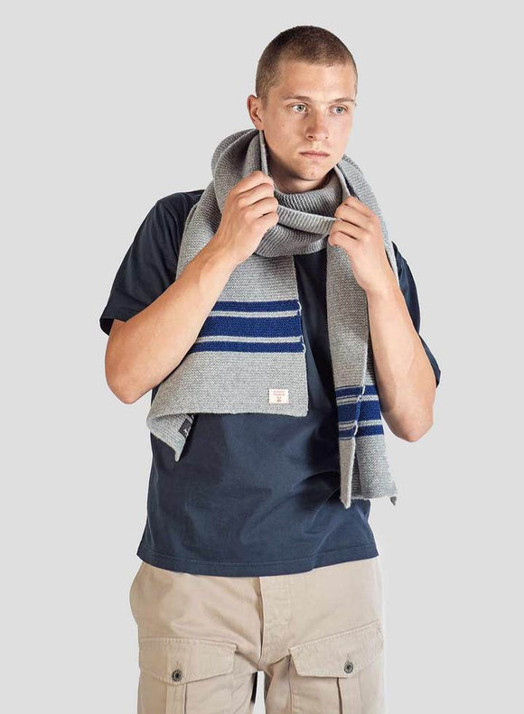 Nigel Cabourn - LAMBS WOOL SCARF - LIGHT GREY