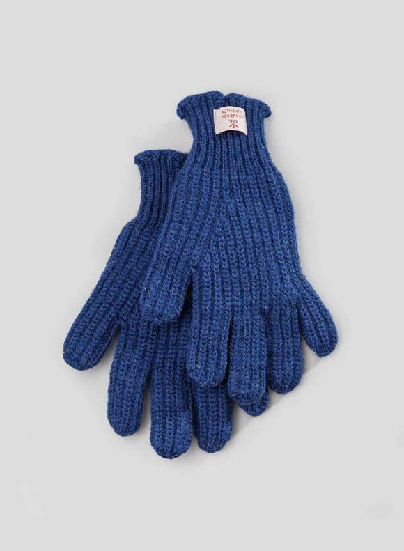 Nigel Cabourn - RIBBED GOALIE GLOVES - ROYAL BLUE
