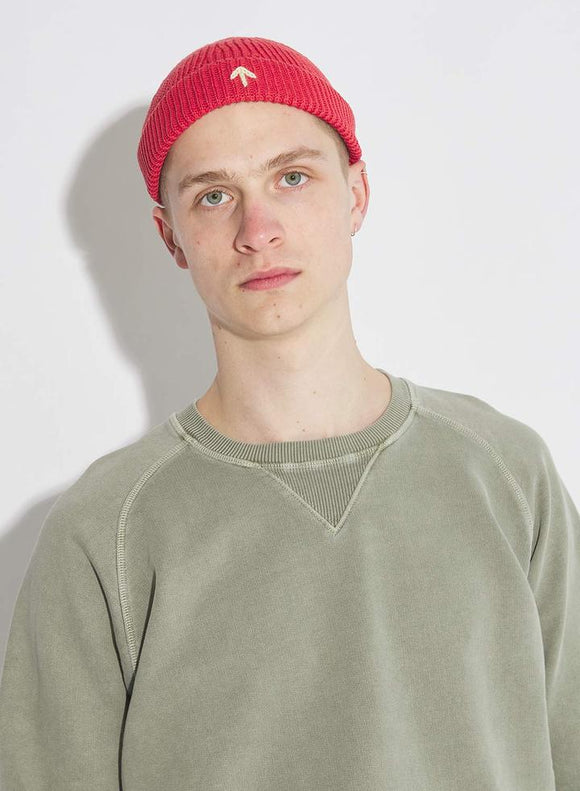 Nigel Cabourn - COTTON KNIT BEANIE IN ORANGE - AUTHENTIC