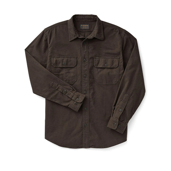 FILSON - FIELD FLANNEL SHIRT - Cigar Brown