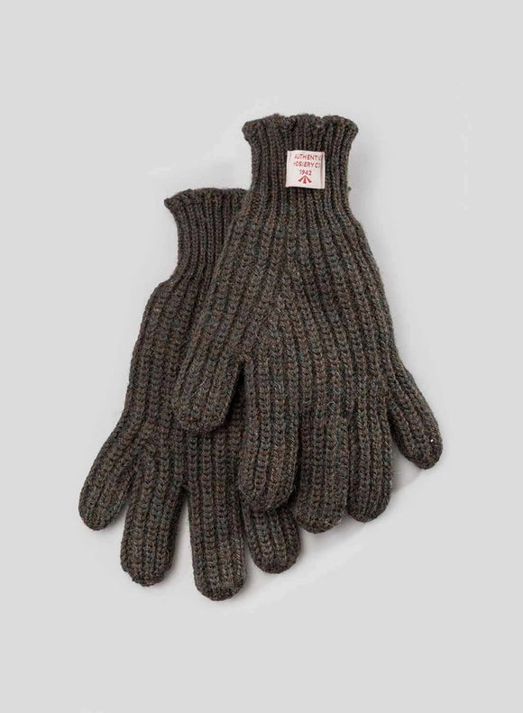 Nigel Cabourn - RIBBED GOALIE GLOVES - DARK ARMY