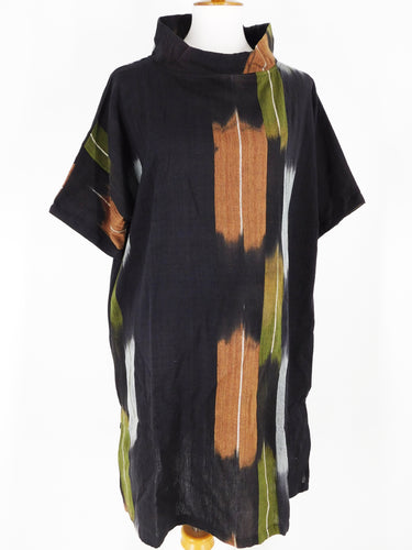 Panel Tunic - Arrow Art Print - Black/Brown