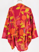 Tuck Pullover - Woodland Print - Red (E)