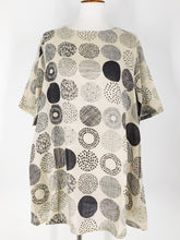 Simple Tunic - Botanical Dot Print - Natural