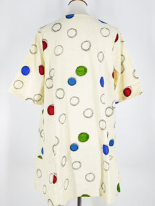 A-Line Tunic - Colorful Bubble Print - Natural