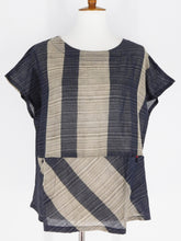 T-Top - Poly - Random Stripe Print - Black