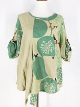 Funky Top - Birds Print - Green