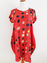 Pullover Tunic - Bubble Solid Print - Red
