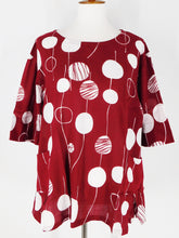El Blouse - Random Bubble Print - Red