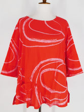 Button Top - Oneness Print - Coral