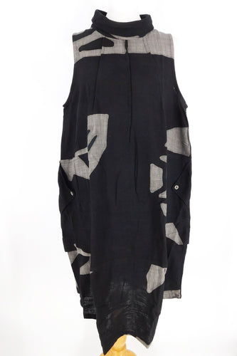Bubble Dress - Mask Batik - Black