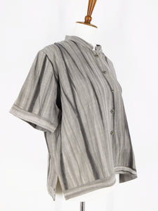 Crop Jacket - Shibori Print - Grey